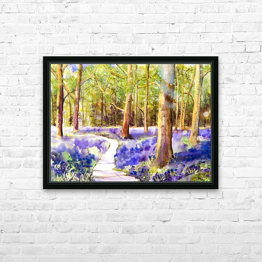 Bluebell Wood  HD Sublimation Metal print with Decorating Float Frame (BOX)