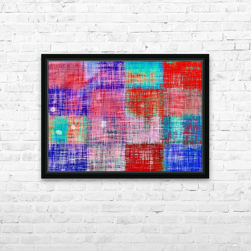 square plaid pattern texture abstract in red blue pink purple HD Sublimation Metal print with Decorating Float Frame (BOX)