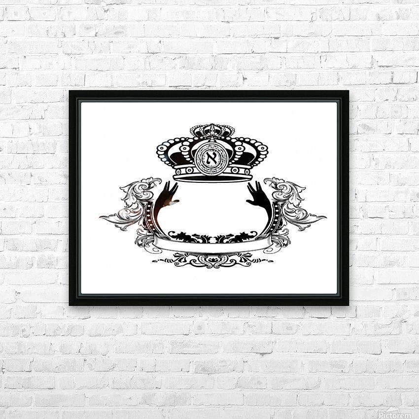 monogram crown  3 HD Sublimation Metal print with Decorating Float Frame (BOX)