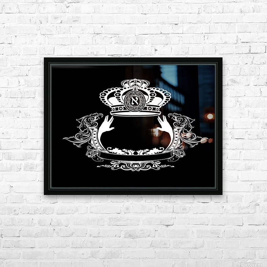 monogram crown  4 black HD Sublimation Metal print with Decorating Float Frame (BOX)