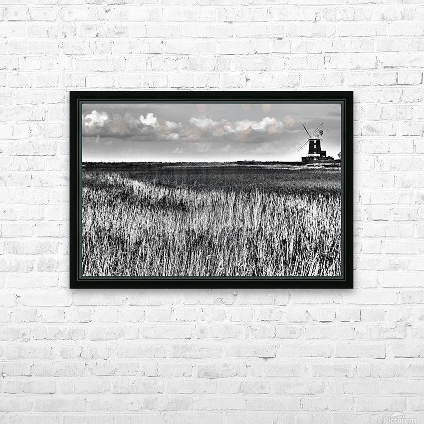 Marsh windmill HD Sublimation Metal print with Decorating Float Frame (BOX)