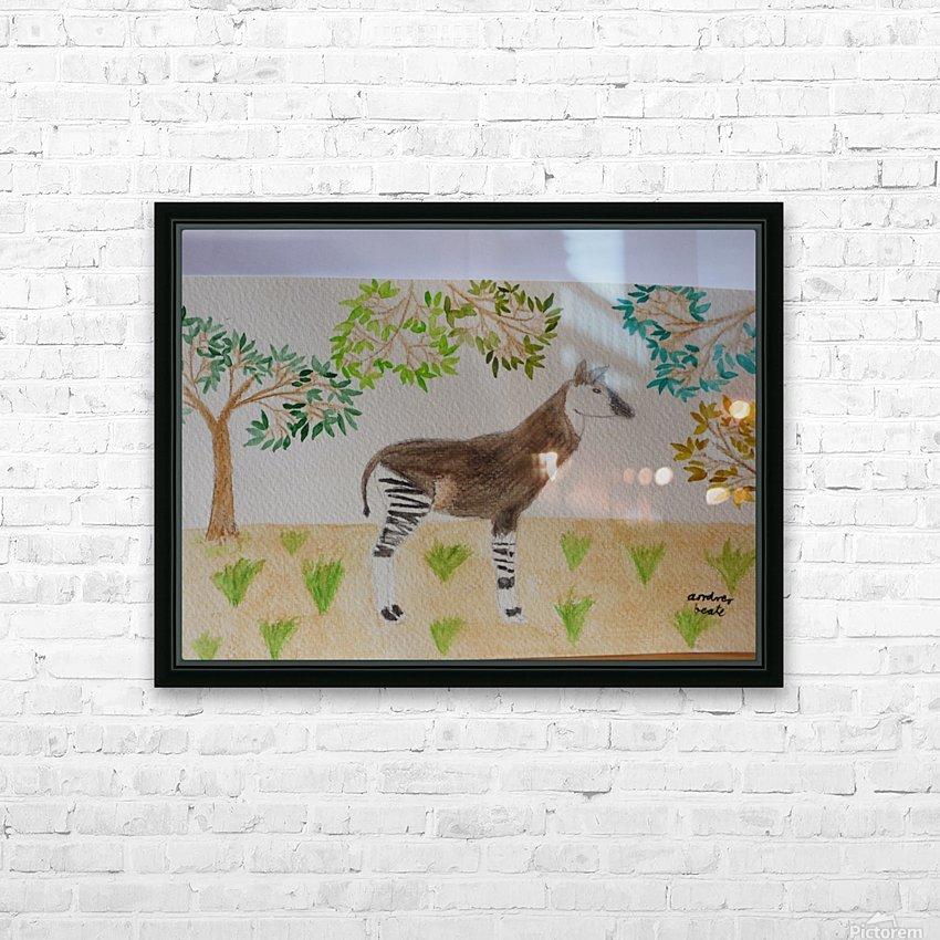 Okapi HD Sublimation Metal print with Decorating Float Frame (BOX)