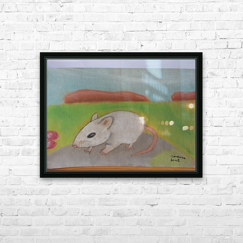 White mouse HD Sublimation Metal print with Decorating Float Frame (BOX)