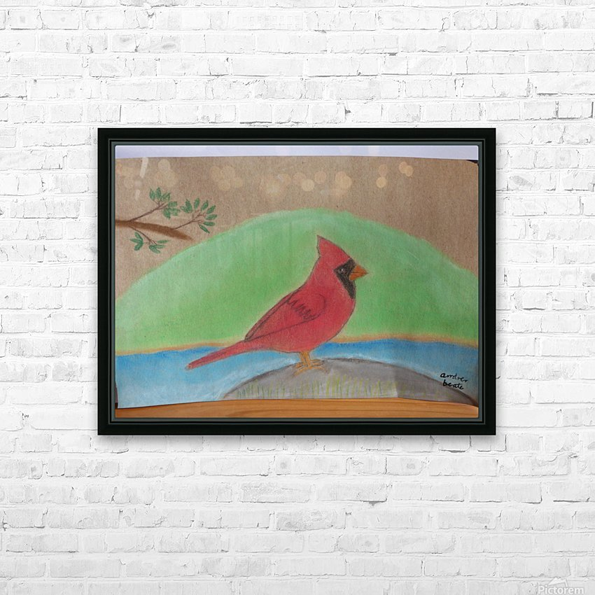 Red Cardinal  HD Sublimation Metal print with Decorating Float Frame (BOX)
