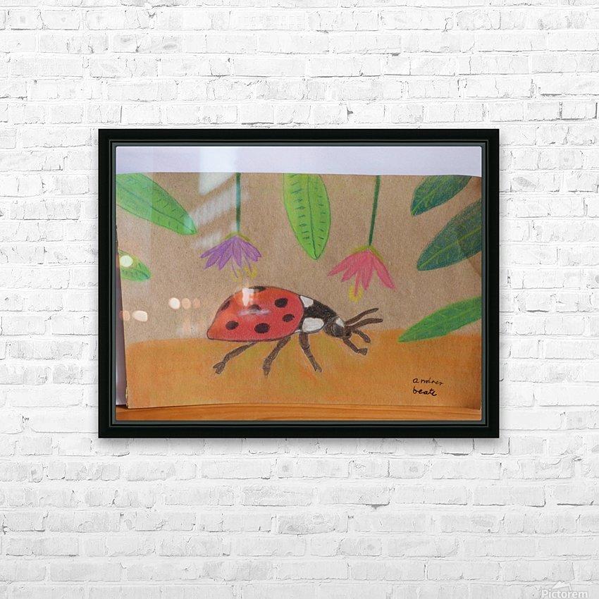 Ladybug HD Sublimation Metal print with Decorating Float Frame (BOX)