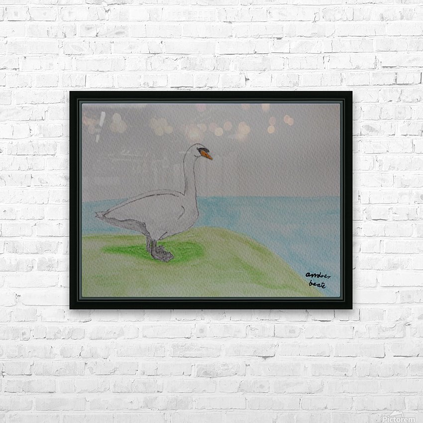 Swan  HD Sublimation Metal print with Decorating Float Frame (BOX)