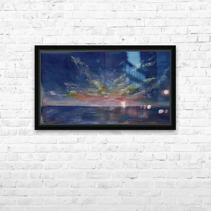 Lovely morning HD Sublimation Metal print with Decorating Float Frame (BOX)