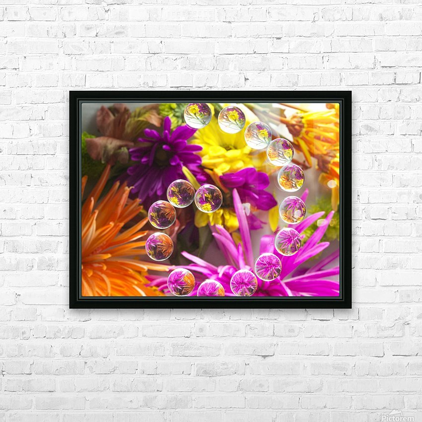 FLOWERS REFRACTION 13 HD Sublimation Metal print with Decorating Float Frame (BOX)