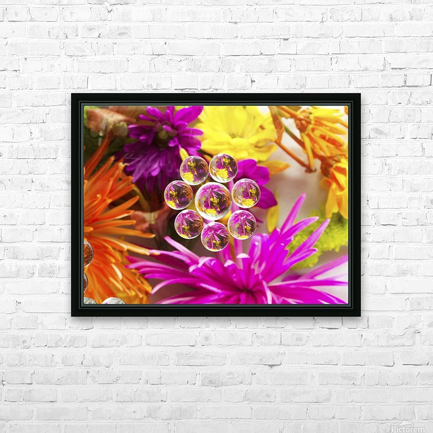 FLOWERS REFRACTION 9 HD Sublimation Metal print with Decorating Float Frame (BOX)
