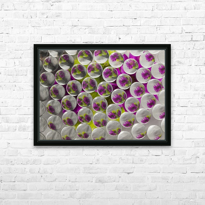 FLOWERS REFRACTION 8 HD Sublimation Metal print with Decorating Float Frame (BOX)