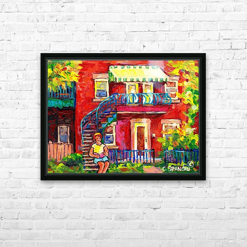 MONTREAL STAIRCASE SCENE HD Sublimation Metal print with Decorating Float Frame (BOX)