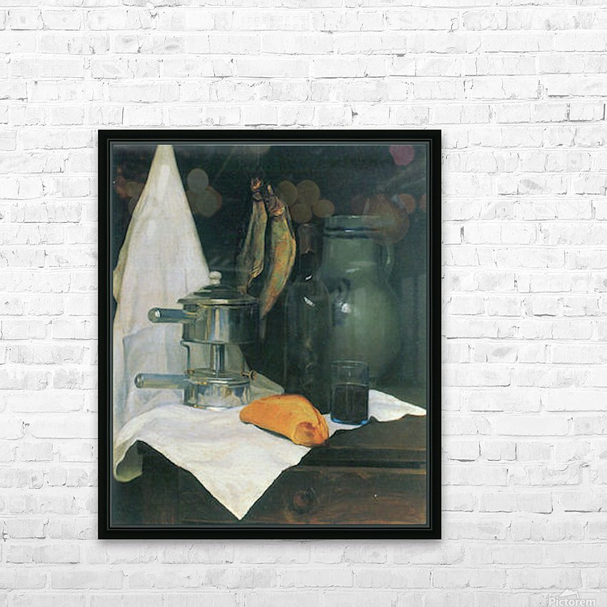 Still Life with Herrings by Felix Vallotton HD Sublimation Metal print with Decorating Float Frame (BOX)