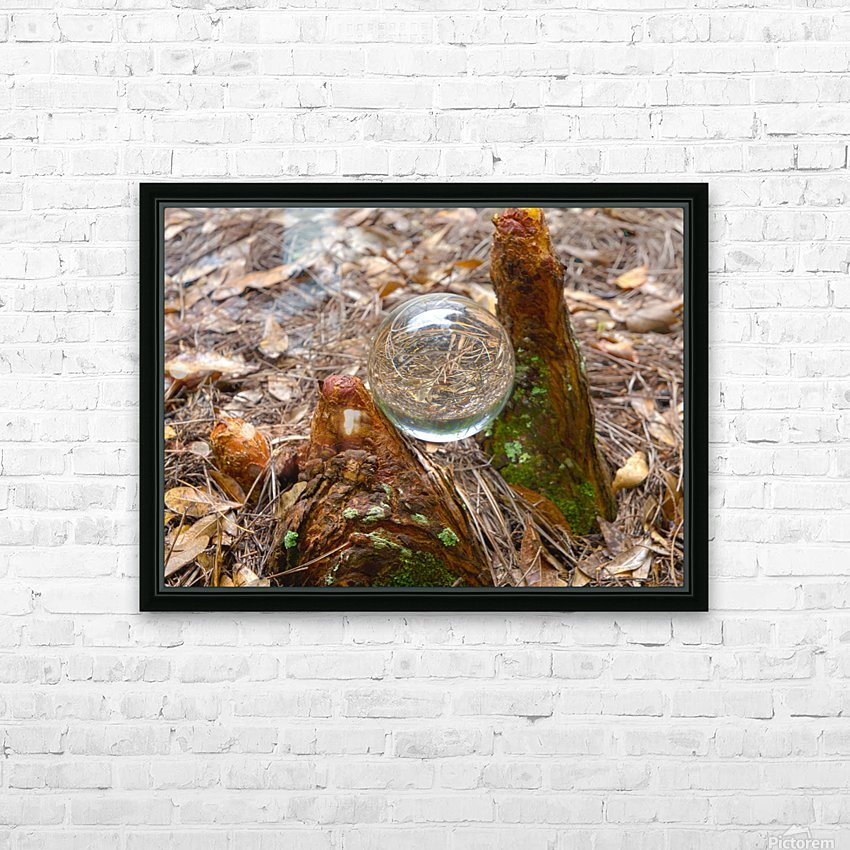 HDR CRYSTAL BALL BETWEEN TWO CYPRESS KNEES HD Sublimation Metal print with Decorating Float Frame (BOX)