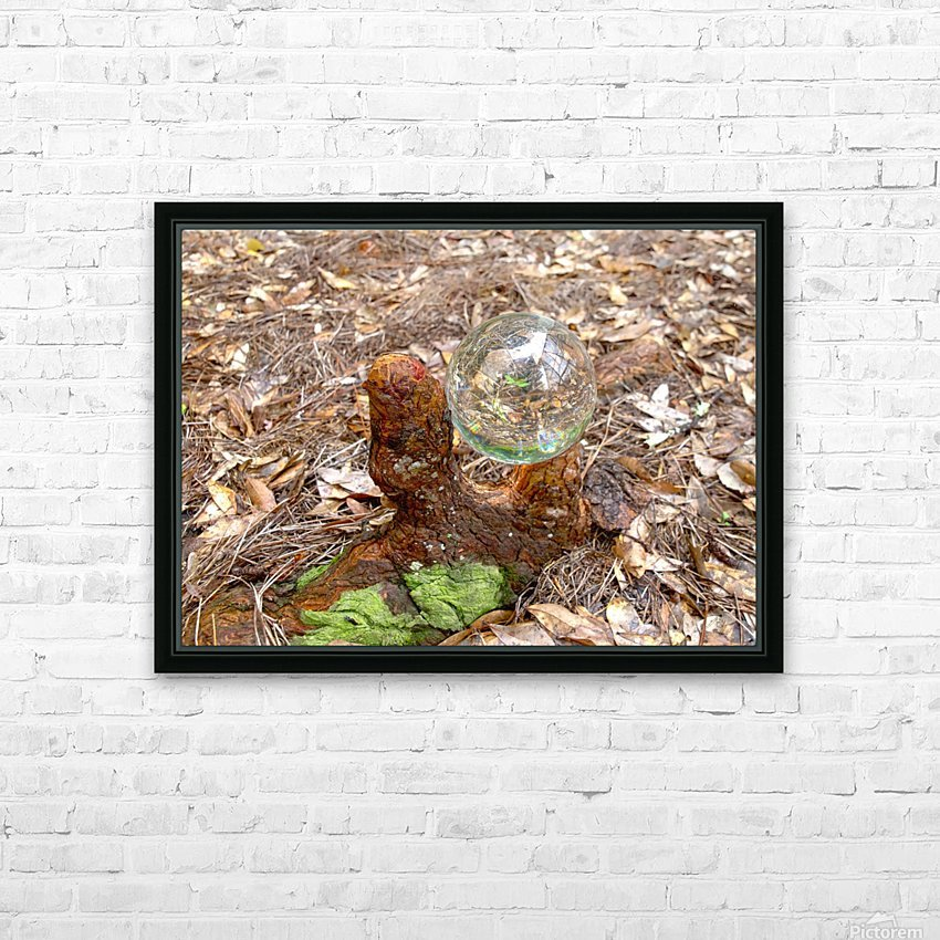 HDR CRYSTAL BALL IN A CYPREE KNEE FORK HD Sublimation Metal print with Decorating Float Frame (BOX)