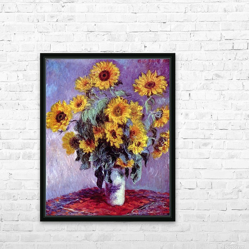 Still Life with Sunflowers by Monet HD Sublimation Metal print with Decorating Float Frame (BOX)