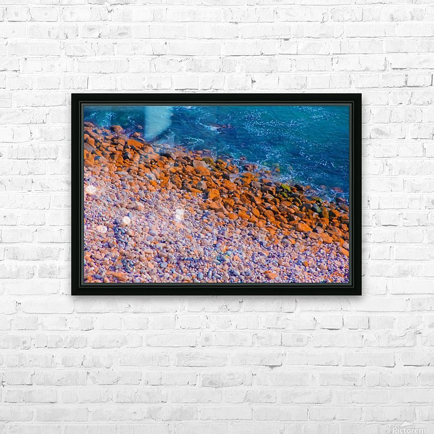 ocean with blue water and rock in summer HD Sublimation Metal print with Decorating Float Frame (BOX)