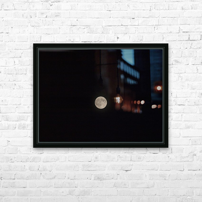 Photo image of a full moon on a clear night  HD Sublimation Metal print with Decorating Float Frame (BOX)