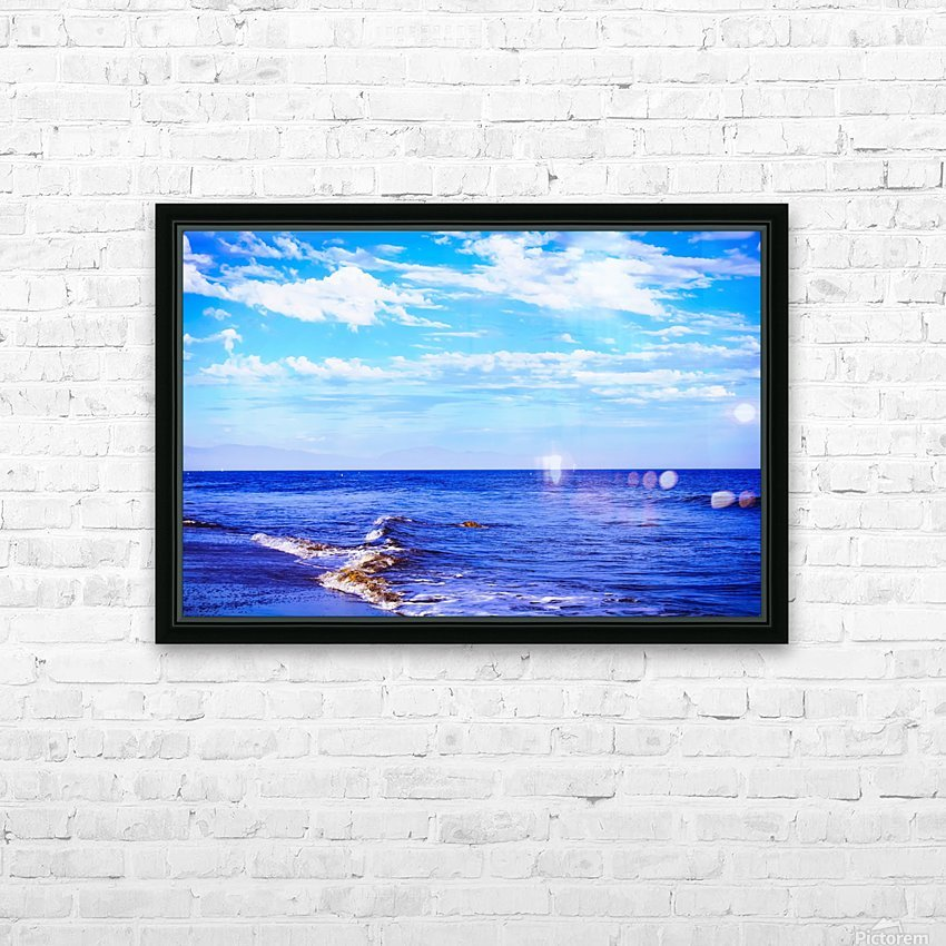 blue ocean view with blue cloudy sky in summer HD Sublimation Metal print with Decorating Float Frame (BOX)