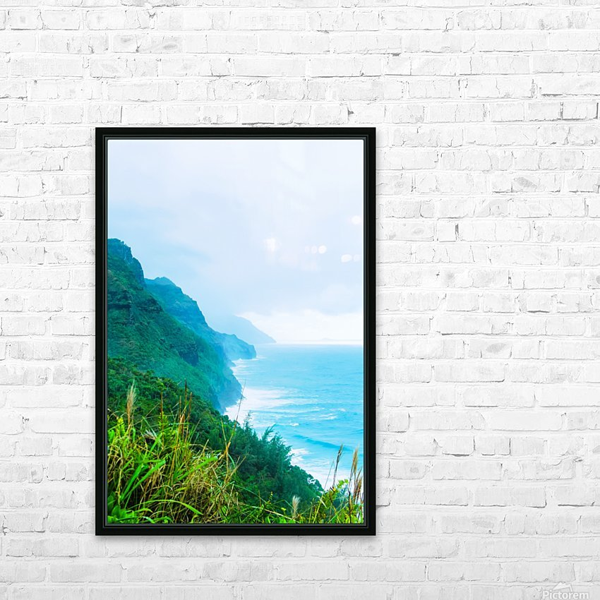 green mountain and ocean view at Kauai, Hawaii, USA HD Sublimation Metal print with Decorating Float Frame (BOX)