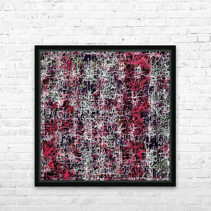 psychedelic abstract art pattern texture background in red pink black HD Sublimation Metal print with Decorating Float Frame (BOX)