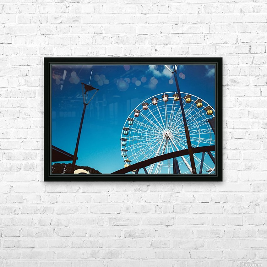 Ferris wheel HD Sublimation Metal print with Decorating Float Frame (BOX)
