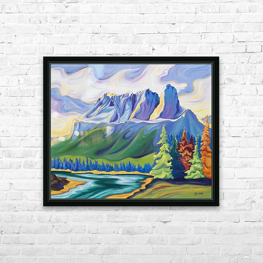 Castle Mountain Beauty HD Sublimation Metal print with Decorating Float Frame (BOX)