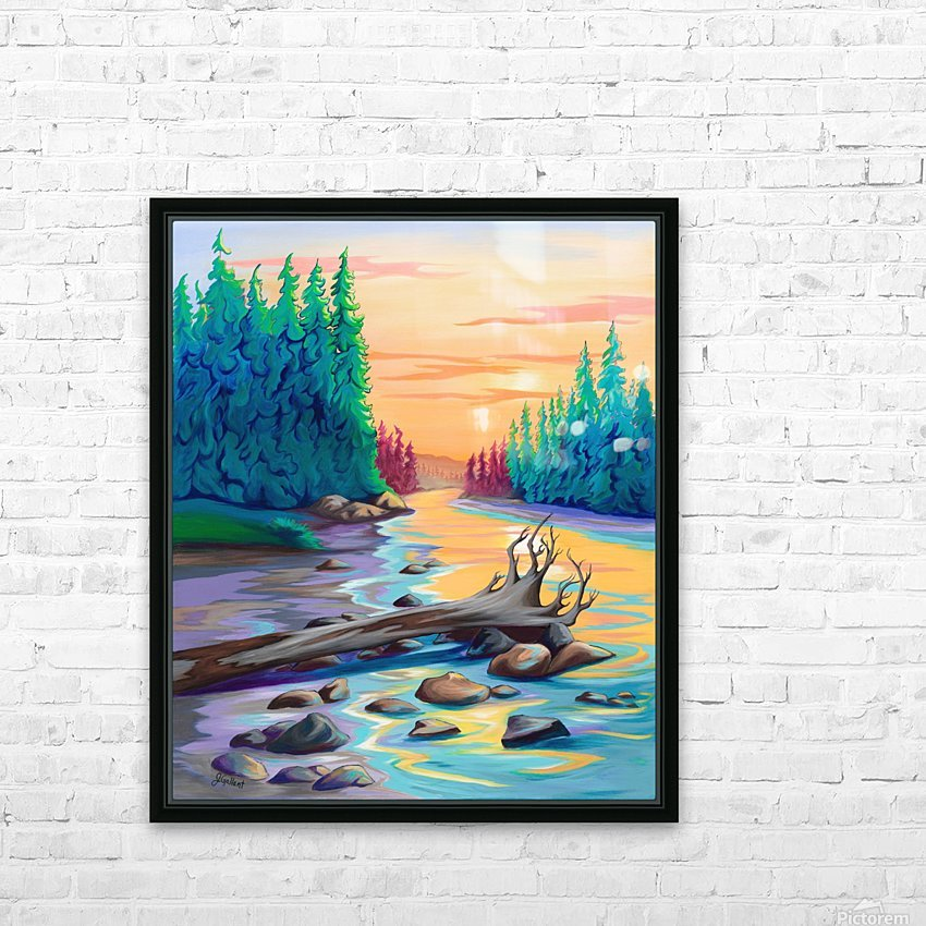 Early Morning on James River  HD Sublimation Metal print with Decorating Float Frame (BOX)