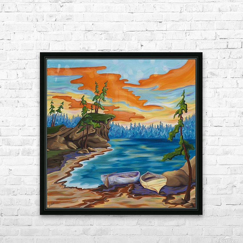 Evening Cove HD Sublimation Metal print with Decorating Float Frame (BOX)