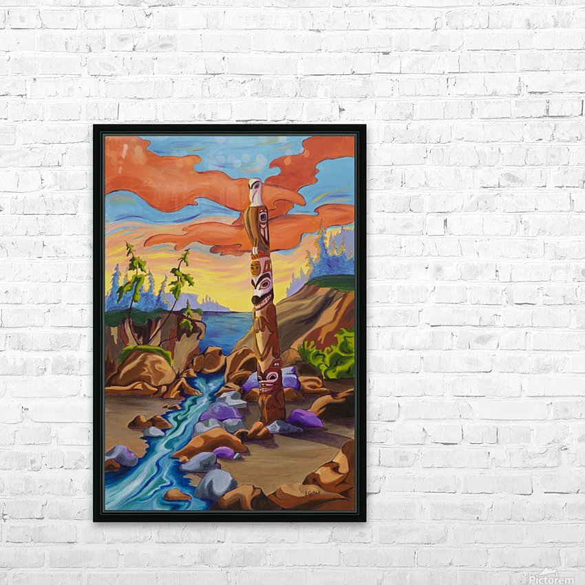 Haida Totem HD Sublimation Metal print with Decorating Float Frame (BOX)
