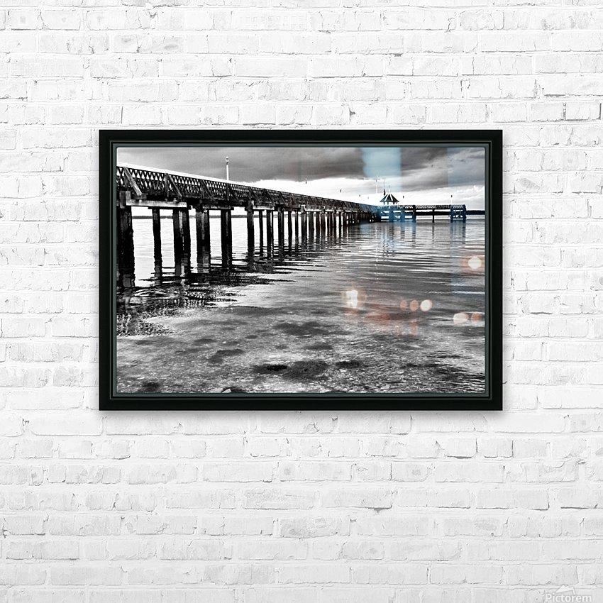 Dark Pier HD sublimation métal imprimé avec décoration flotteur cadre (boîte)