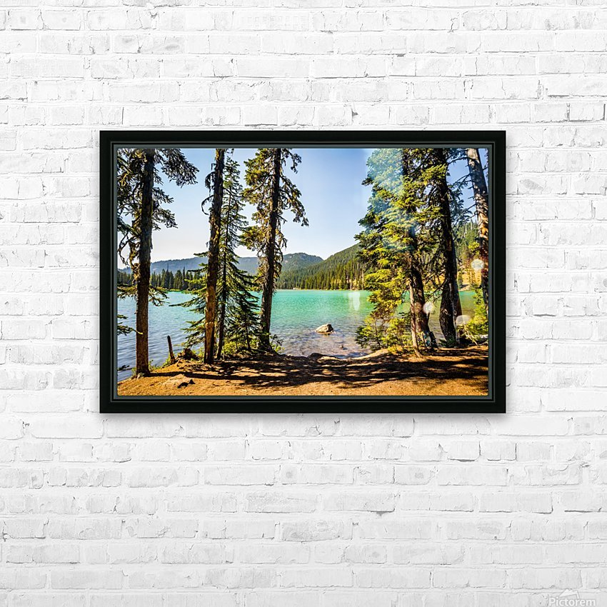 Devil's Lake HD Sublimation Metal print with Decorating Float Frame (BOX)