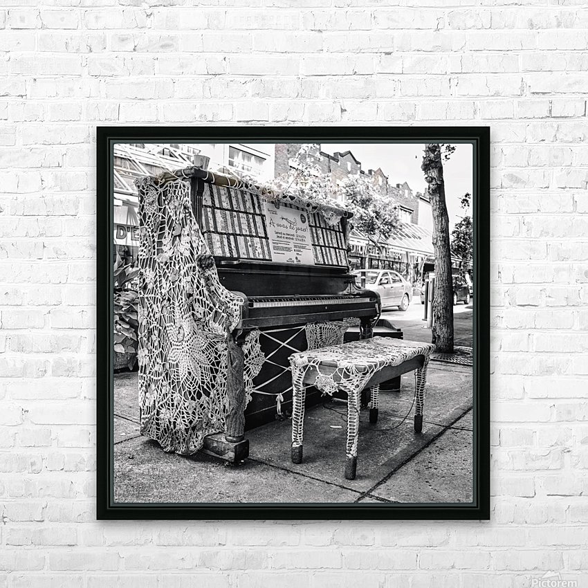 Street Piano HD Sublimation Metal print with Decorating Float Frame (BOX)