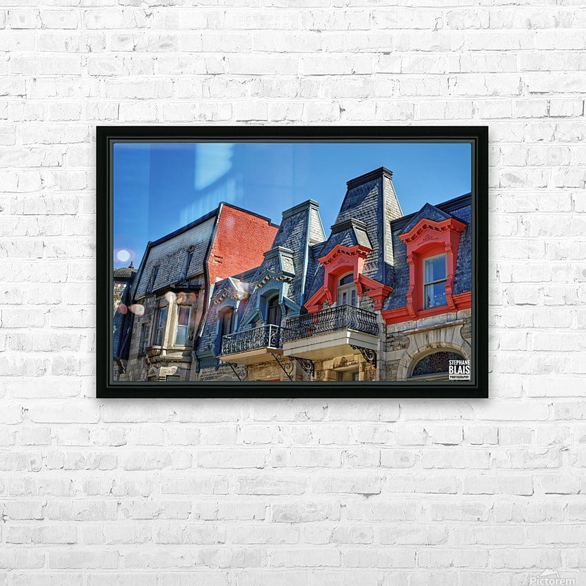Montreal Rooftops HD Sublimation Metal print with Decorating Float Frame (BOX)