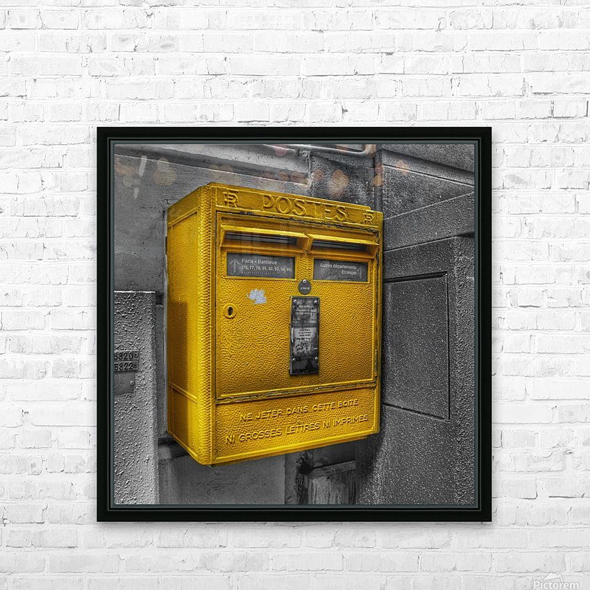 Old French Mailbox HD Sublimation Metal print with Decorating Float Frame (BOX)