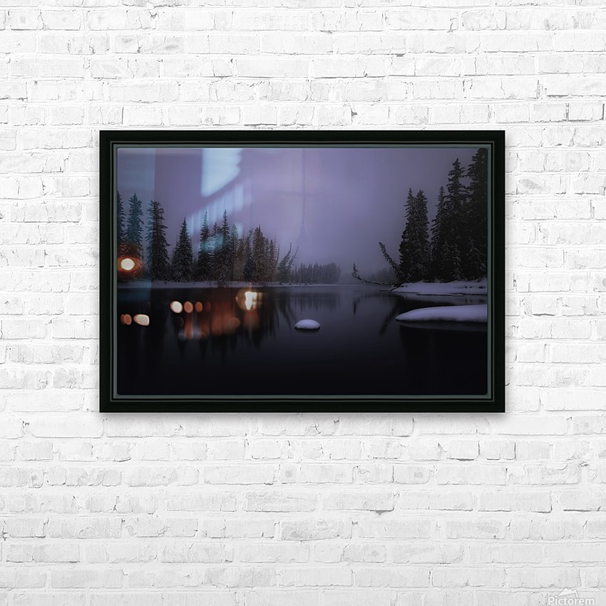 Winter Bow River HD Sublimation Metal print with Decorating Float Frame (BOX)
