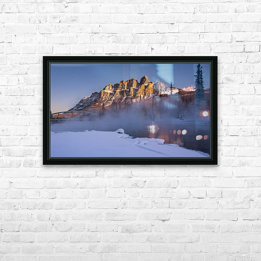 Castle morning HD Sublimation Metal print with Decorating Float Frame (BOX)