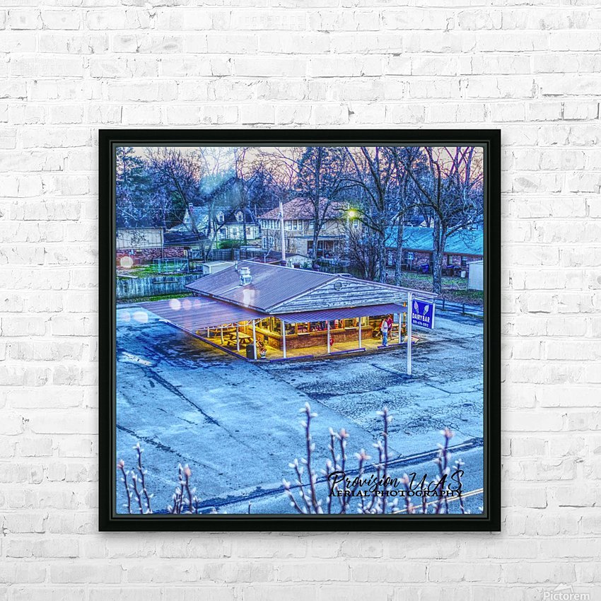 Lonoke, AR | Jackrabbit Dairy Bar  HD Sublimation Metal print with Decorating Float Frame (BOX)
