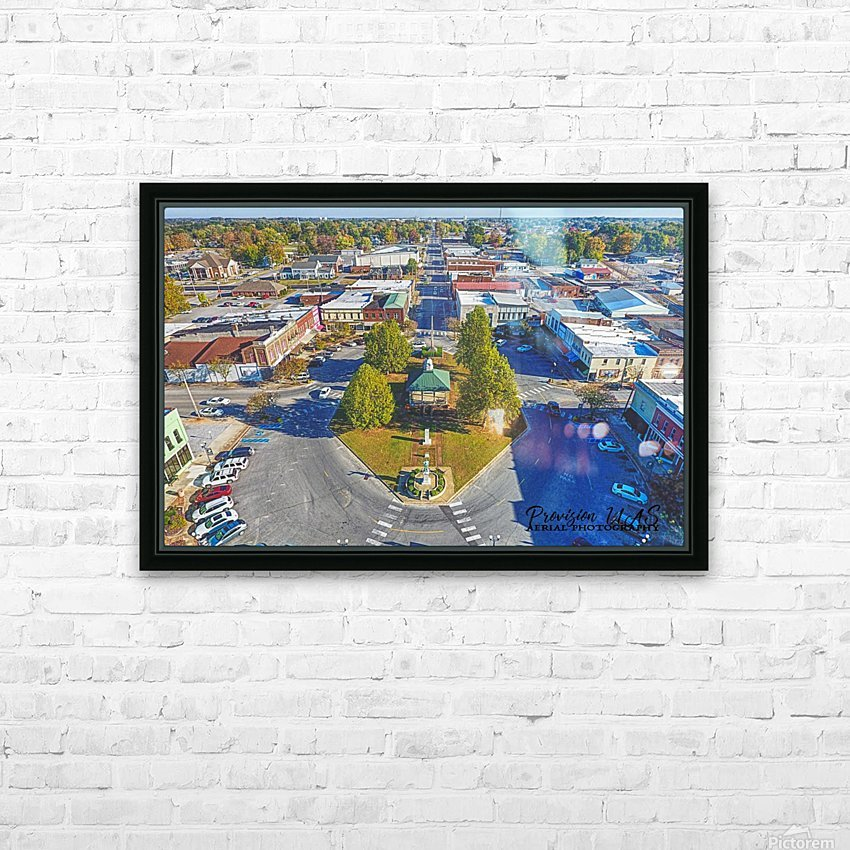 Lawrenceburg, TN | The Old Square HD Sublimation Metal print with Decorating Float Frame (BOX)