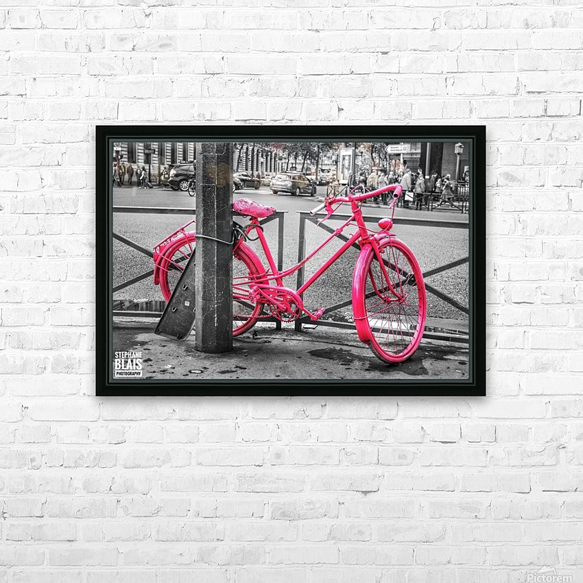 Pink Bicycle HD Sublimation Metal print with Decorating Float Frame (BOX)