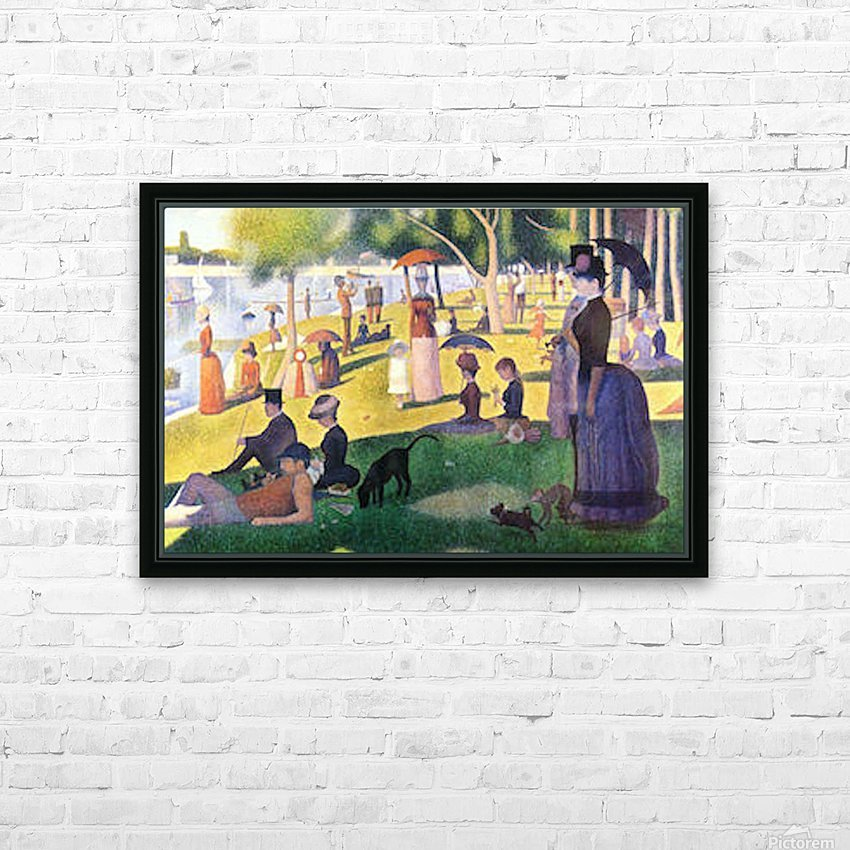Sunday at La Grande Jatte by Seurat HD Sublimation Metal print with Decorating Float Frame (BOX)