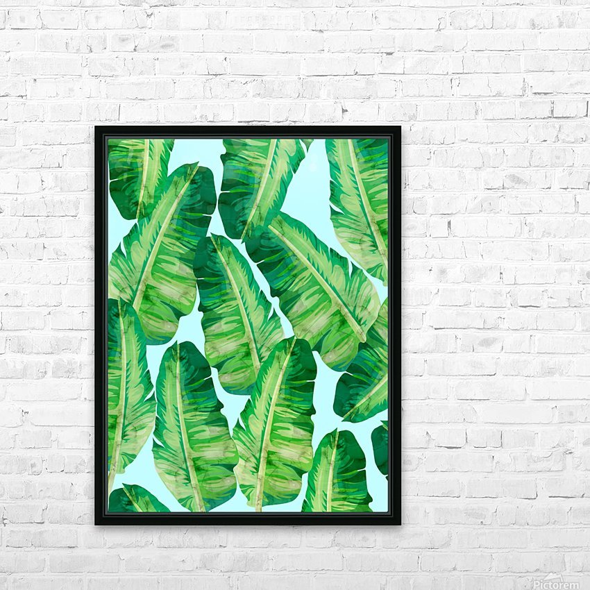 Tropical and exotic pattern II HD Sublimation Metal print with Decorating Float Frame (BOX)