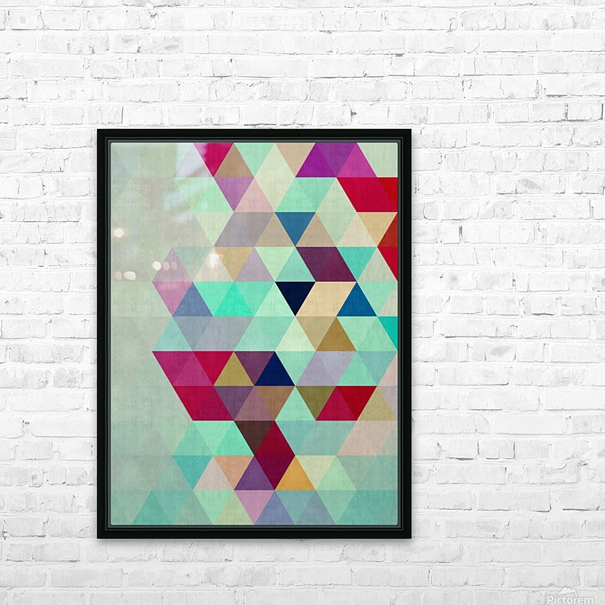 Cosmetic triangles IV HD Sublimation Metal print with Decorating Float Frame (BOX)