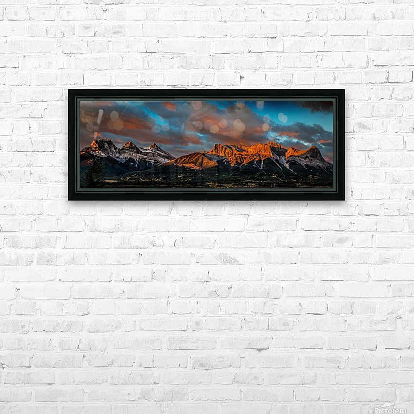CanmoreSunrise HD Sublimation Metal print with Decorating Float Frame (BOX)
