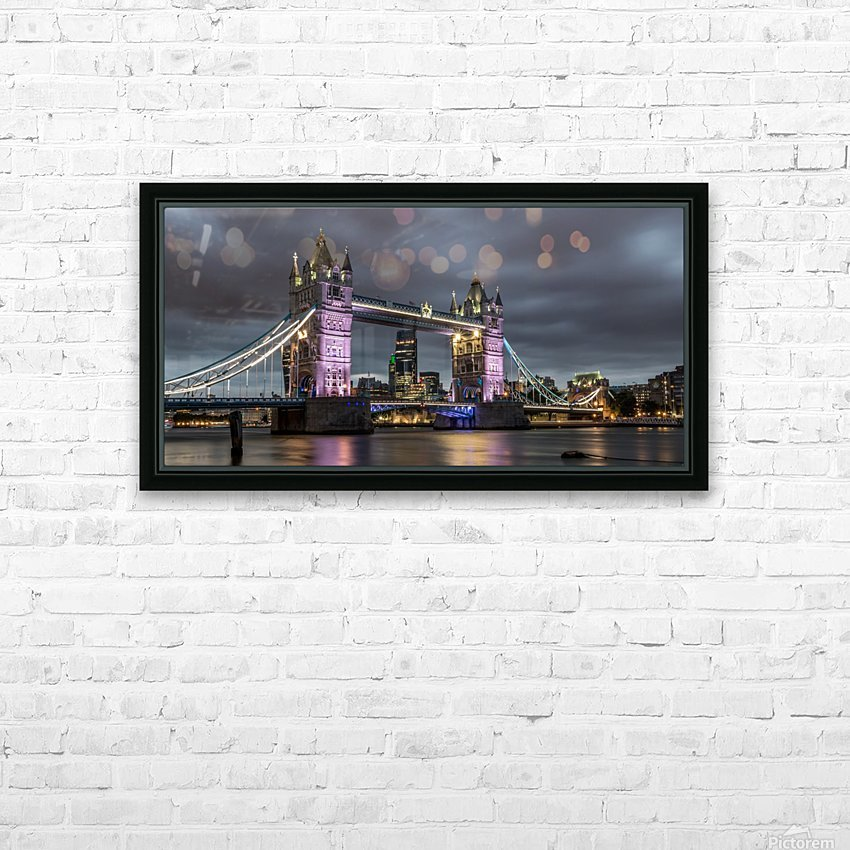 Tower Bridge at Night HD Sublimation Metal print with Decorating Float Frame (BOX)