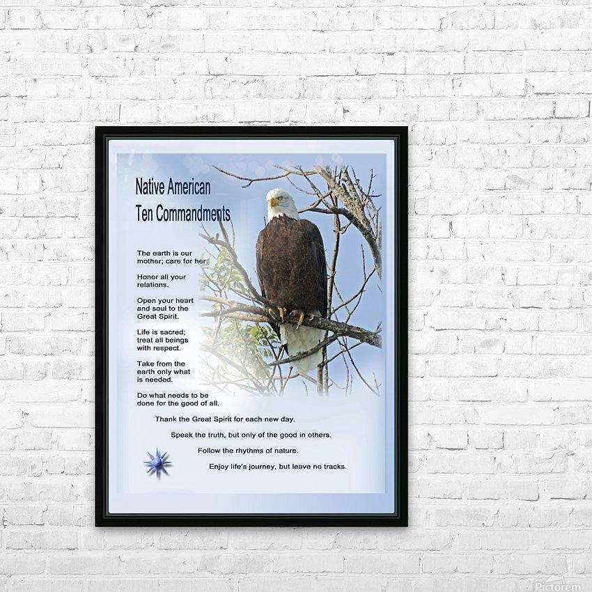 NativeTenCommandments2 HD sublimation métal imprimé avec décoration flotteur cadre (boîte)