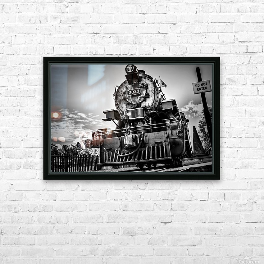 Heritage Train HD Sublimation Metal print with Decorating Float Frame (BOX)