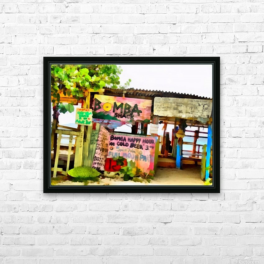 The Shack HD Sublimation Metal print with Decorating Float Frame (BOX)