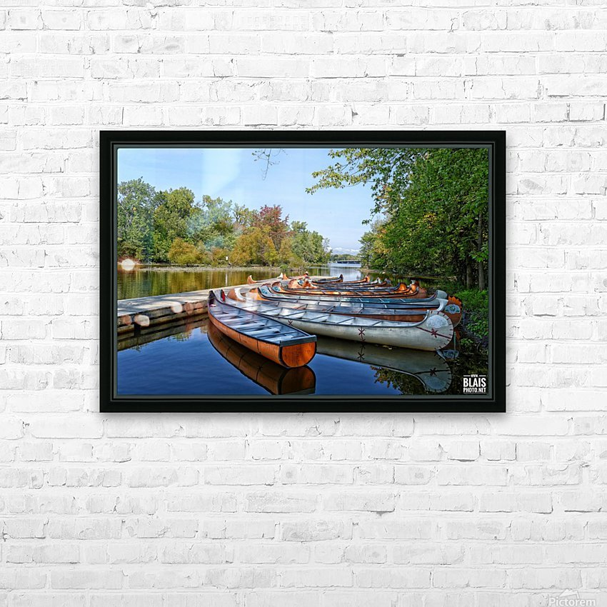 Canoes HD Sublimation Metal print with Decorating Float Frame (BOX)