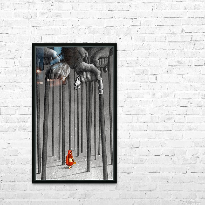 red hood  HD Sublimation Metal print with Decorating Float Frame (BOX)