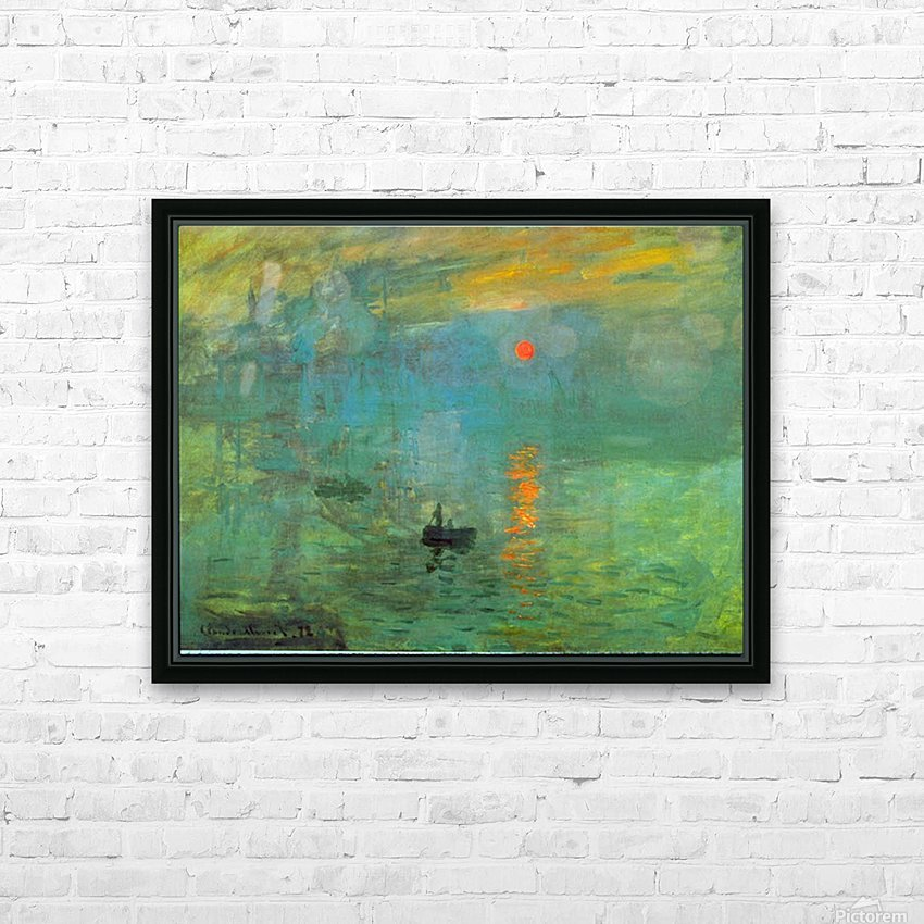 Sunrise by Monet HD Sublimation Metal print with Decorating Float Frame (BOX)